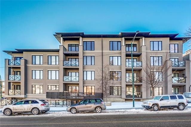 #401 1805 26 AV SW, 2 bed, 1 bath, at $314,900