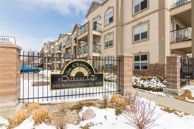 #1203 303 ARBOUR CREST DR NW, 2 bed, 2 bath, at $320,000